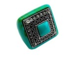 Vinessa's Antique Style Square Turquoise Cocktail Ring - Polyvore 2012-03-07 23-54-04